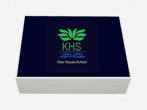 Kew House School Memory Wood Box - A4 box - Personalised