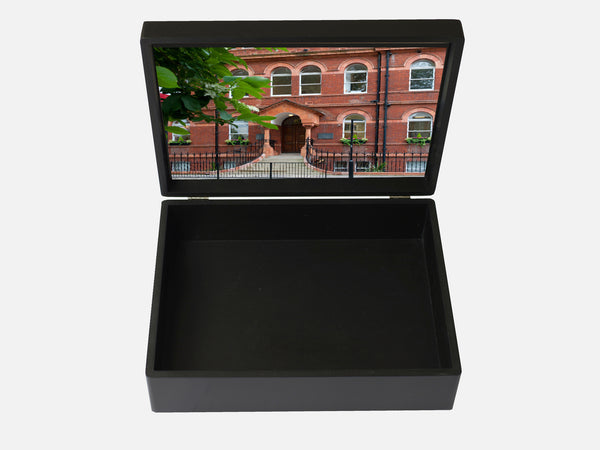 Westminster School Memory Wood Box - A4 box - Black - Personalised