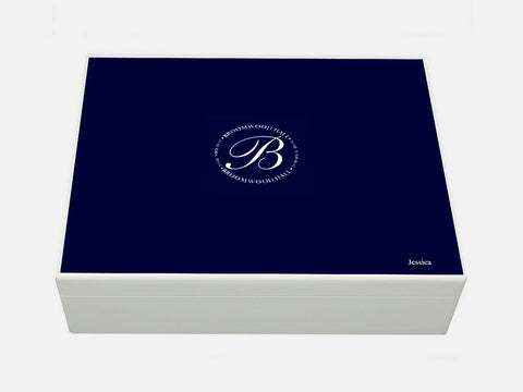 Broomwood Hall School Memory Wood Box - A4 Box - Personalised