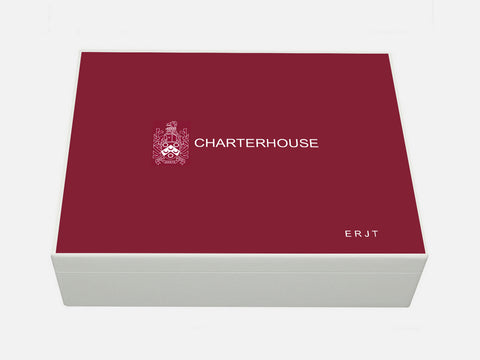 Charterhouse School Memory Wood Box - A4 Box - Personalised