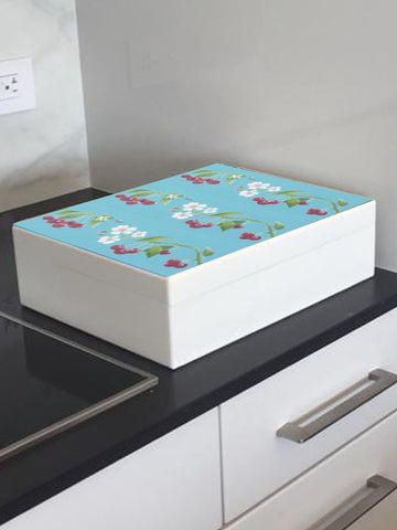 Cherries wooden box file for A4-sized papers, magazines, recipes, post 335 x 260 x 100 mm