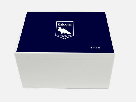 Falcons School Memory Wood Box - A4 Chest - Personalised
