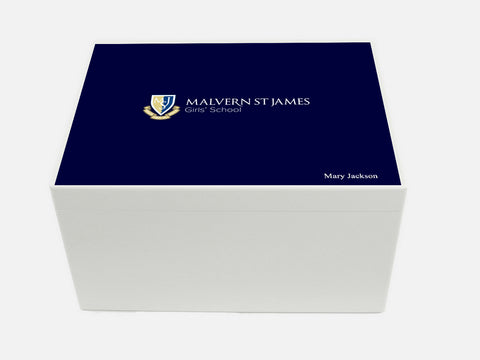 Malvern St James  School Memory Wood Box - A4 Chest - Personalised