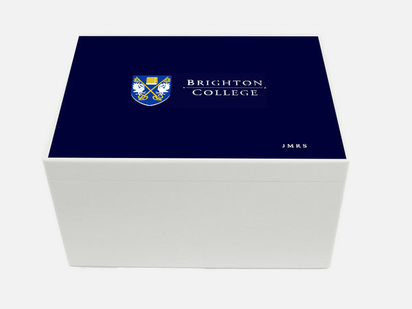 Brighton College School Memory Wood Box - A4 Chest - Personalised