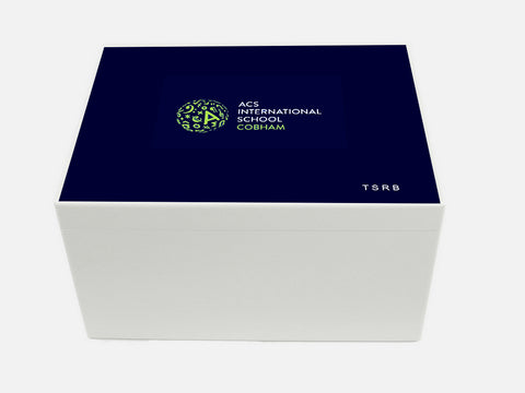 ACS Cobham School Memory Wood Box - A4 Chest - Personalised