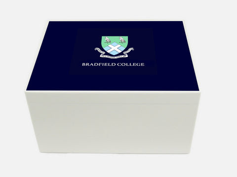 Bradfield College School Memory Wood Box - A4 Chest - Personalised