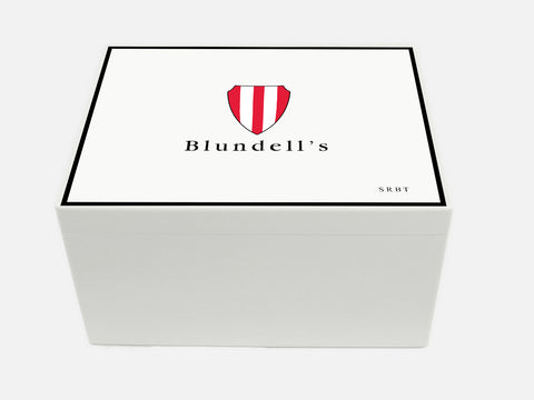 Personalised Blundells School Memory Wood box - A4 Chest