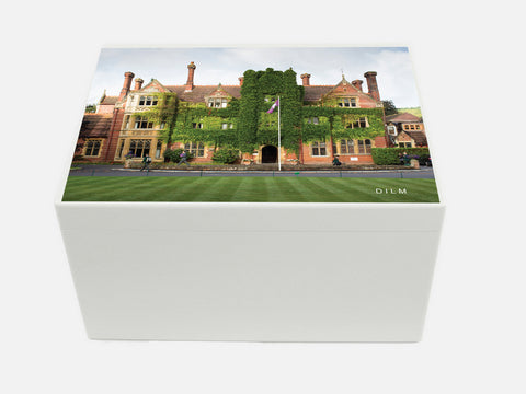 Box Hill School Memory Wood Box  - A4 Chest - Photo - Personalised