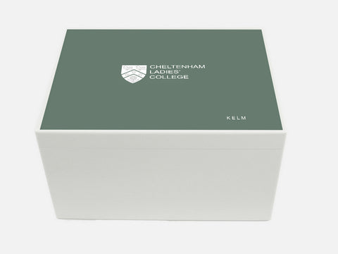 Cheltenham Ladies College School Memory Wood Box - A4 Chest - Personalised