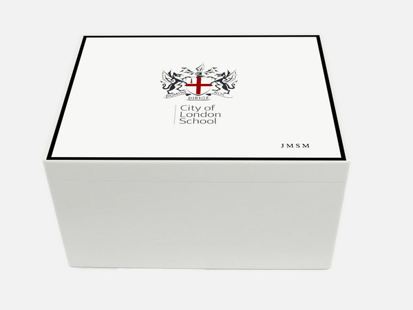 City of London Boys School Memory Wood Box - A4 Chest - Personalised