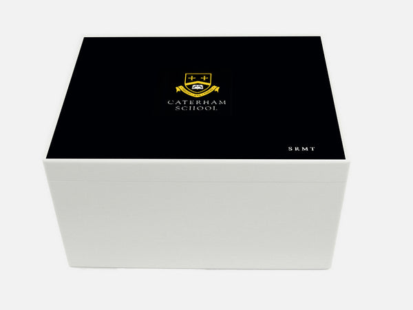 Caterham School Memory Wood Box - A4 Chest - Personalised
