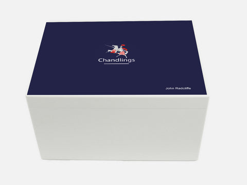 Chandlings School Memory Wood Box - A4 Chest - Personalised