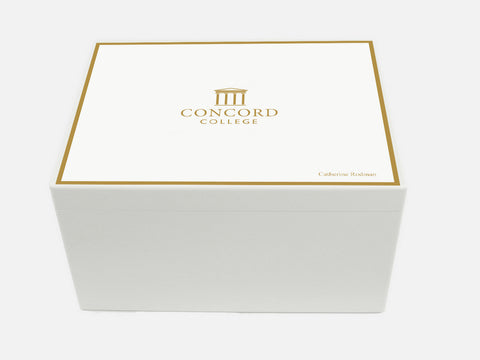Concord College School Memory Wood Box - A4 Chest - Personalised