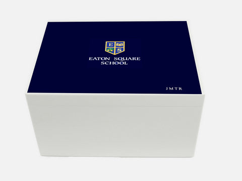 Eaton Square School Memory Wood Box - A4 Chest - Personalised
