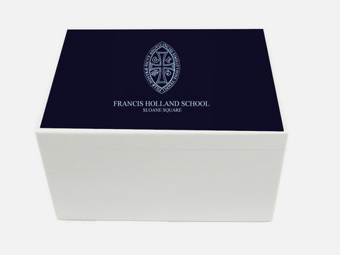 Francis Holland Sloane Square School Memory Wood Box - A4 Chest - Personalised