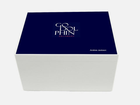 Godolphin Salisbury School Memory Wood Box - A4 Chest - Personalised