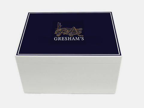 Greshams School Memory Wood Box - A4 Chest - Personalised