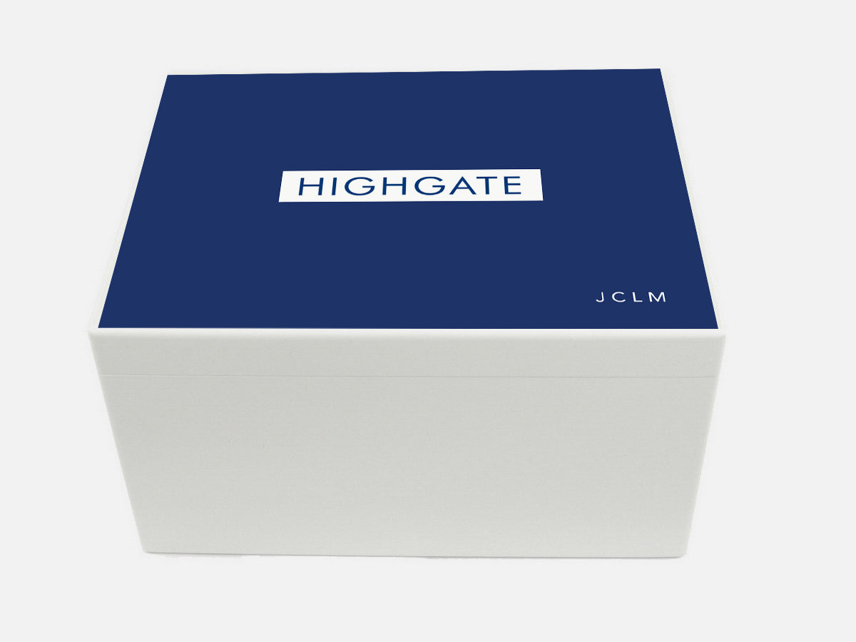 Highgate Senior School Memory Wood Box - A4 Chest - Personalised