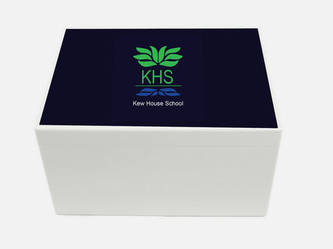 Kew House School Memory Wood Box - A4 Chest - Personalised