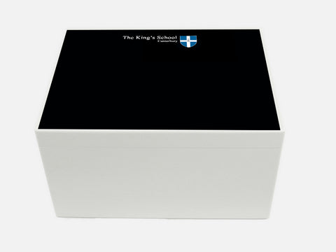 King's School Canterbury School Memory Wood Box - A4 Chest - Personalised