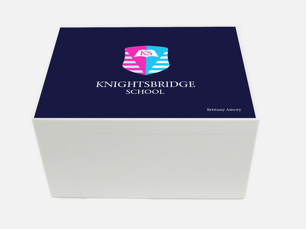Knightsbridge School Memory Wood Box - A4 Chest - Personalised