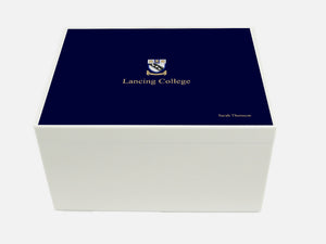 Lancing College School Memory Wood Box - A4 Chest - Personalised