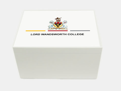 Lord Wandsworth School Memory Wood Box - A4 Chest - Personalised