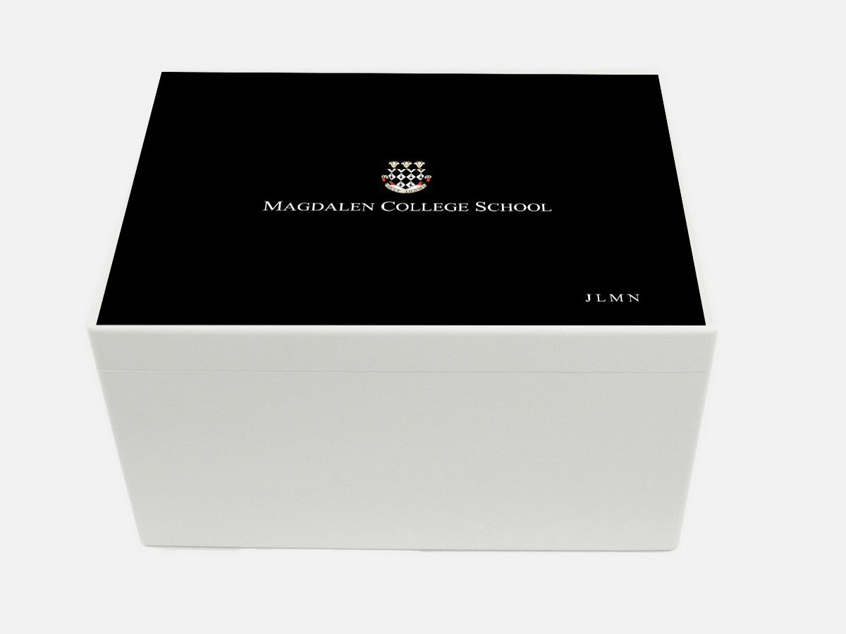 Magdalen College Oxford School Memory Wood Box - A4 Chest - Personalised