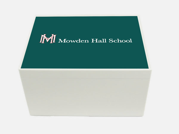 Mowden Hall School Memory Wood Box - A4 Chest - Personalised