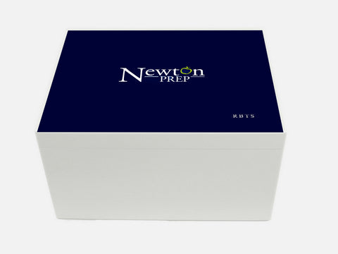 Newton Prep School Memory Wood Box - A4 Chest - Personalised