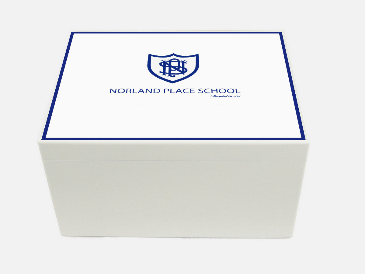 Norland Place School Memory Wood Box - A4 Chest - Personalised