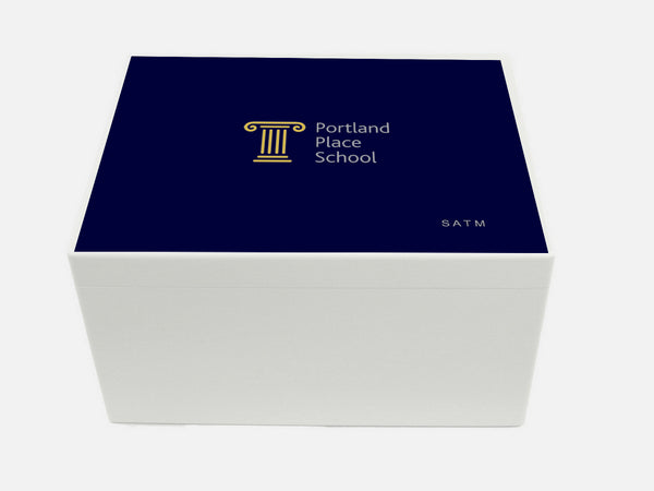 Portland Place School Memory Wood Box - A4 Chest - Personalised