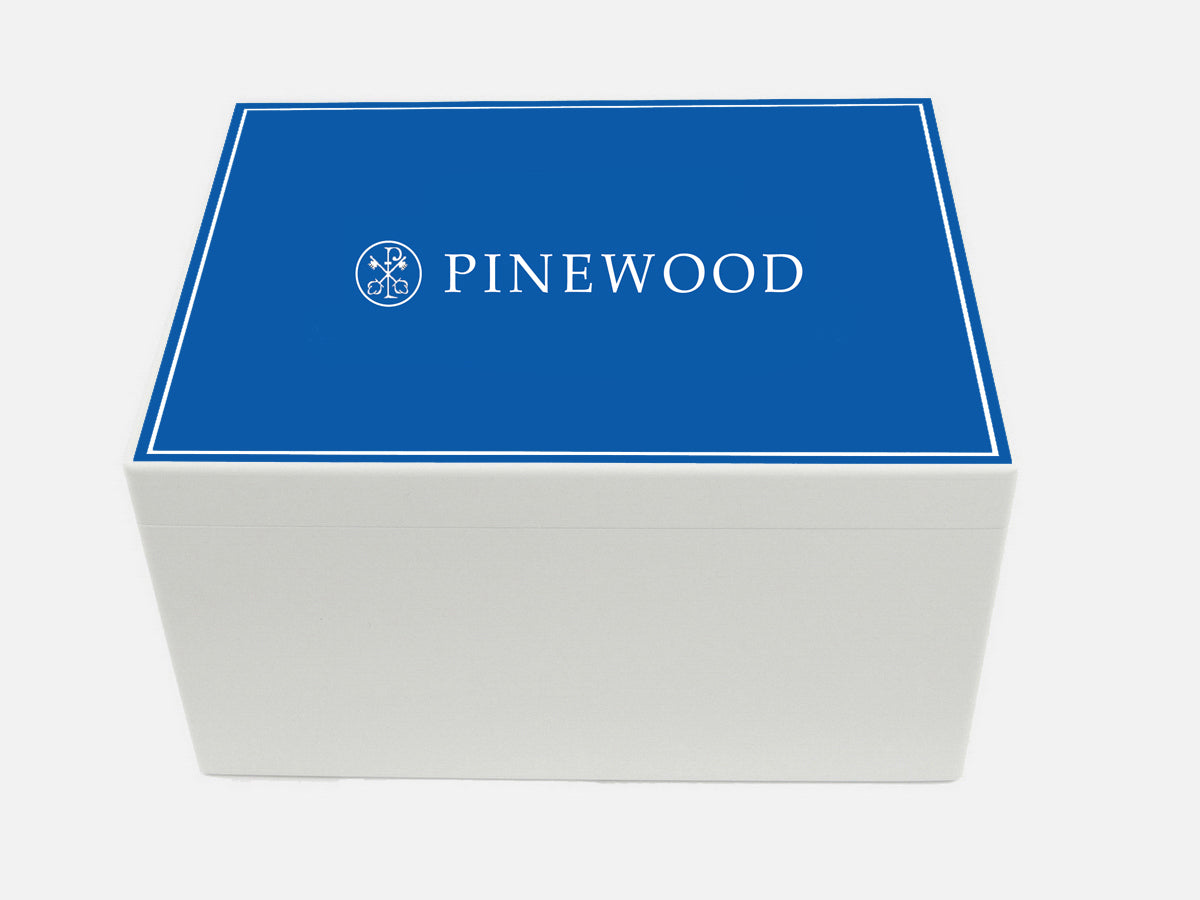 Pinewood School Memory Wood Box - A4 Chest - Personalised