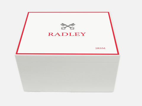 Radley College School Memory Wood Box - A4 Chest - Personalised