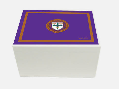 Royal Colchester Grammar School Memory Wood Box - A4 Chest - Personalised