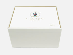 Stonyhurst School Memory Wood Box - A4 Chest - Personalised