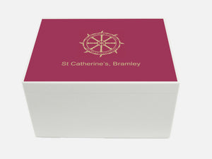 St Catherines Bramley School Memory Wood Box - A4 Chest - Personalised
