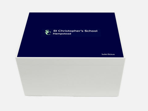 St Christophers Hampstead School Memory Wood Box - A4 Chest - Personalised