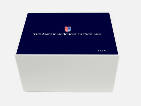 TASIS American School in England  School Memory Wood Box - A4 Chest - Personalised