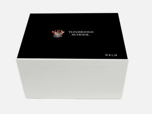 Tonbridge School Memory Wood Box - A4 Chest - Personalised