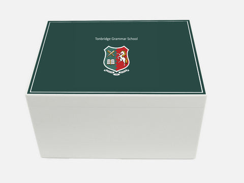 Tonbridge Grammar School Memory Wood Box - A4 Chest - Personalised