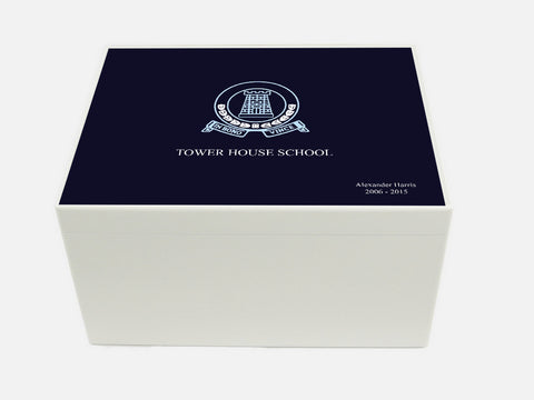 Tower House School Memory Wood Box - A4 Chest - Personalised