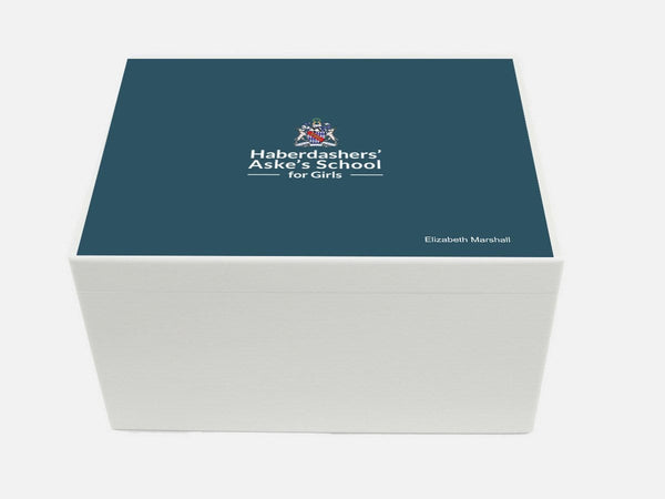 Haberdasher Aske's Girls' School Memory Wood Box - A4 Chest - Personalised