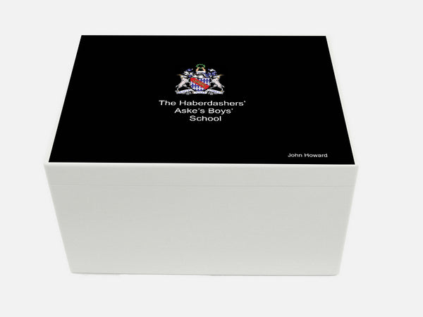 Haberdasher Aske's Boys' School Memory Wood Box - A4 Chest - Personalised