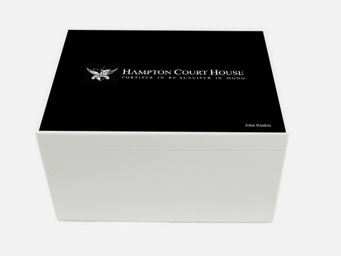 Hampton Court House School Memory Wood Box - A4 Chest - Personalised