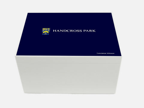 Handcross Park School Memory Wood Box - A4 Chest - Personalised