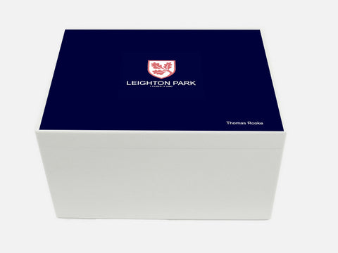 Leighton Park School Memory Wood Box - A4 Chest - Personalised