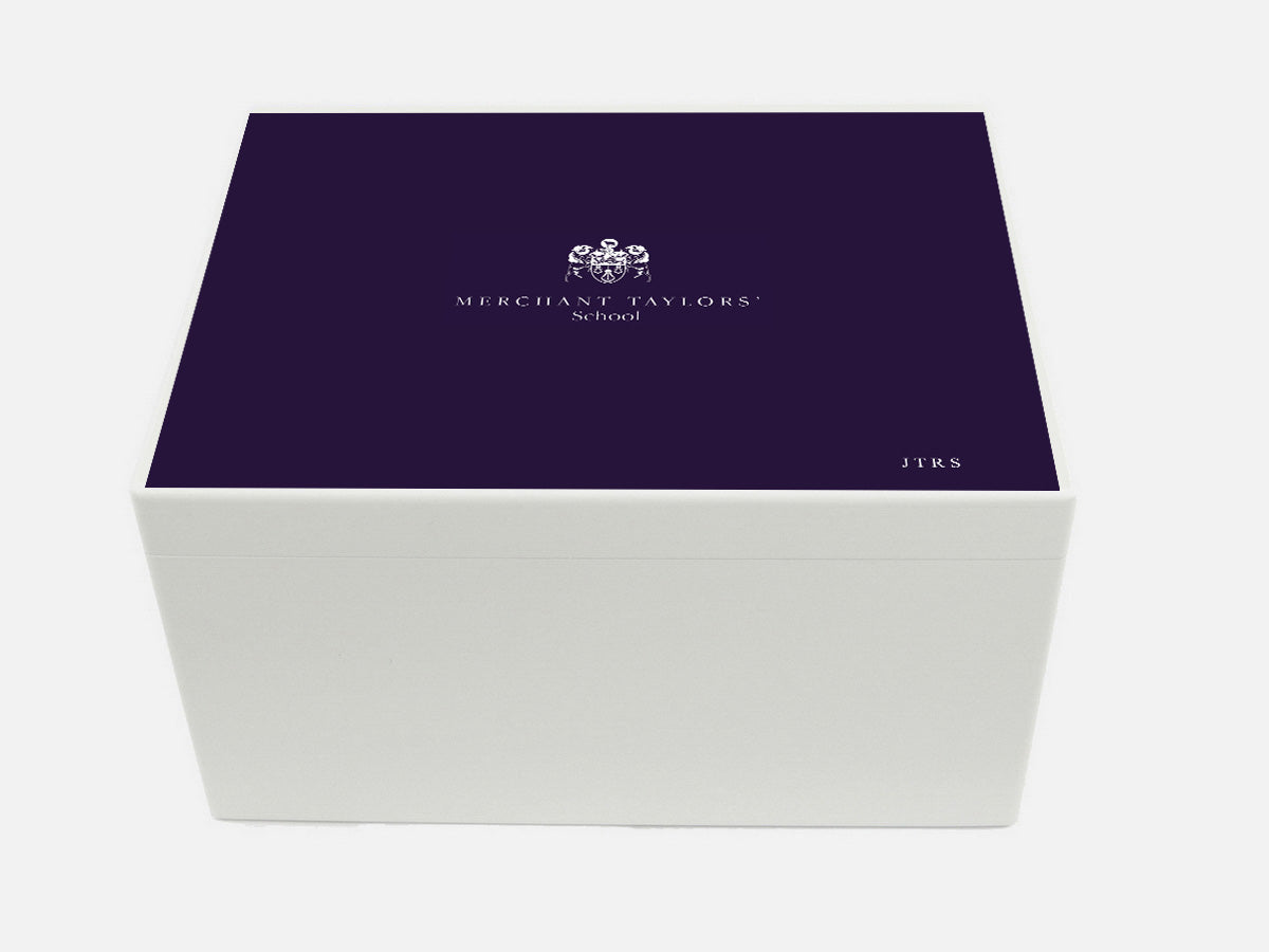 Merchant Taylors' School Memory Wood Box - A4 Chest - Personalised