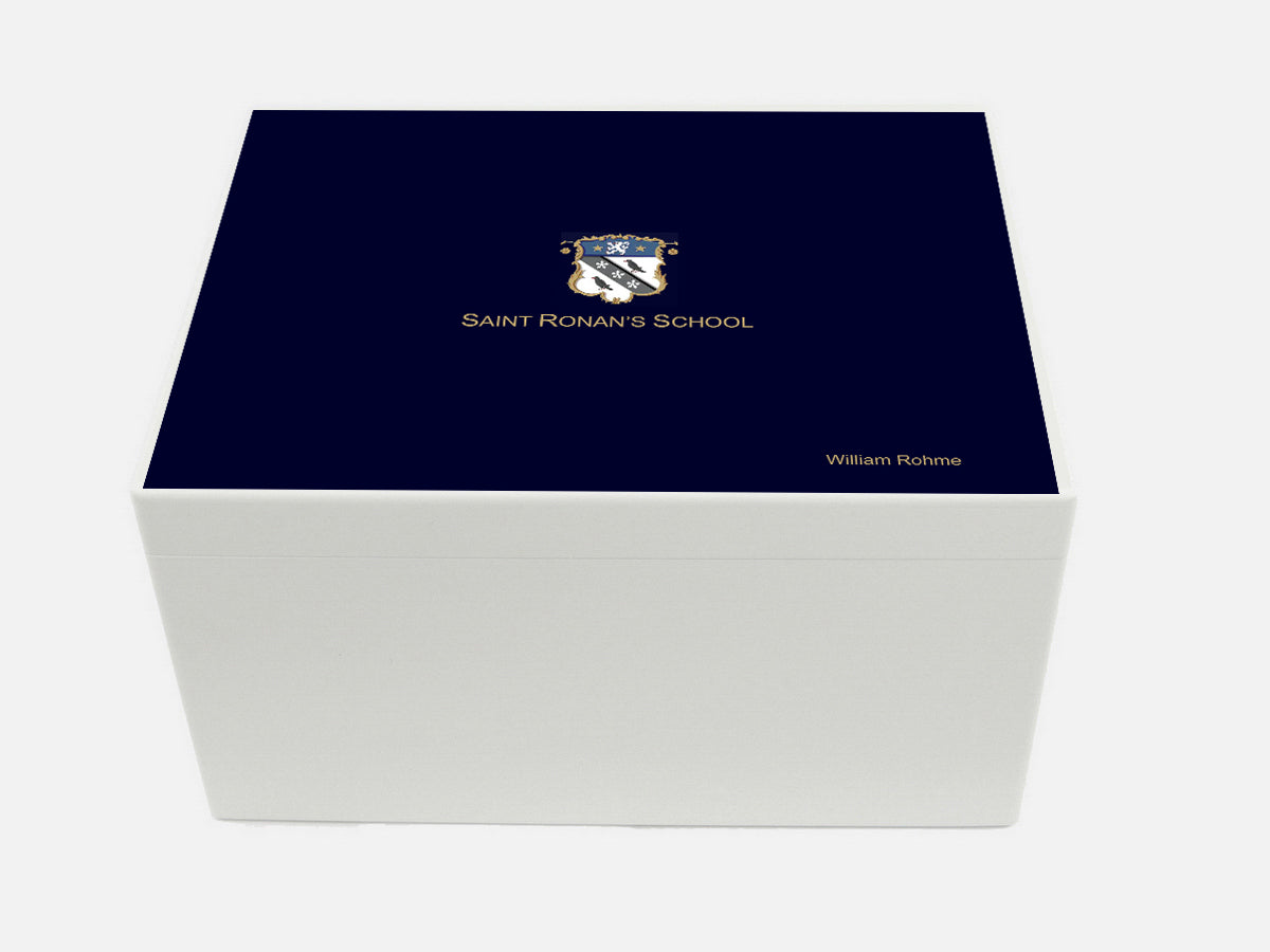 Saint Ronans School Memory Wood Box - A4 Chest - Personalised