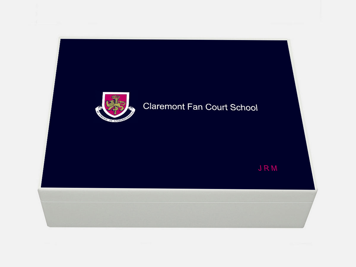 Claremont Fan Court School Memory Wood Box - A4 Box - Personalised